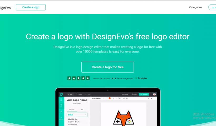 DesignEvo logo create