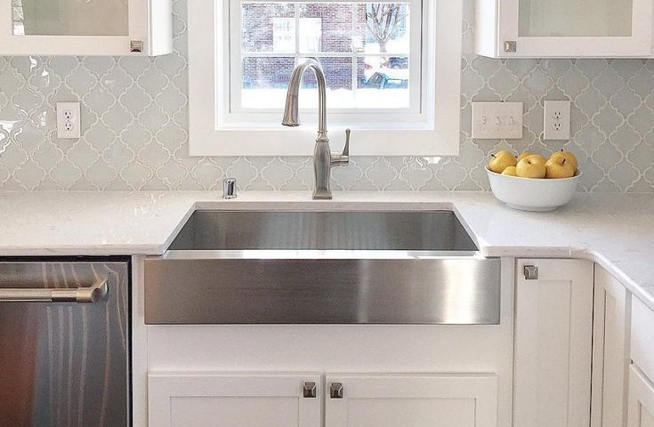 Fireclay sink for kitchen